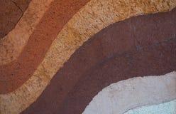 Formi degli strati del suolo, del suo colore e delle strutture Fotografia Stock Libera da Diritti