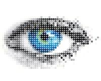 Formi di un occhio umano illustrazione vettoriale