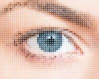 Formi di un occhio umano illustrazione di stock