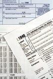 Formi la dichiarazione dei redditi 1040 Immagini Stock Libere da Diritti