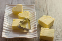 Formi per i biscotti sotto forma di cuore Fotografie Stock Libere da Diritti