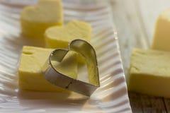 Formi per i biscotti sotto forma di cuore Fotografie Stock