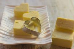 Formi per i biscotti sotto forma di cuore Immagini Stock