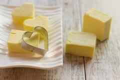 Formi per i biscotti sotto forma di cuore Fotografia Stock Libera da Diritti