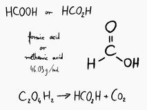 Formic acid Stock Photo