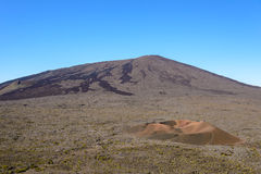 Formica leo and Dolomieu craters in Piton de la fournaise volcan Royalty Free Stock Photos