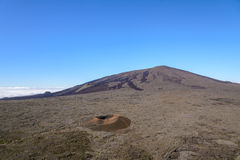 Formica leo and Dolomieu craters in Piton de la fournaise volcan Stock Images
