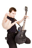 Formidable guitarist Stock Photo