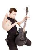 Formidable guitarist Stock Photo