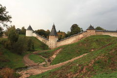 Formidable medieval fortress Scenic view Royalty Free Stock Image