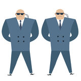 Formidable security professionals secret service bodyguards Royalty Free Stock Photography