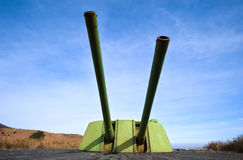 Formidable weapon artillery battery-3. Royalty Free Stock Photos
