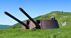 Formidable weapon artillery battery-2. Stock Images