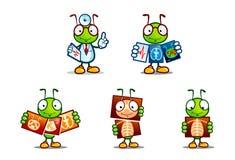 Formiga bonito dos desenhos animados com um traje do doutor Foto de Stock