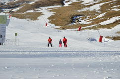 Formigal ski resort without snow Royalty Free Stock Photography