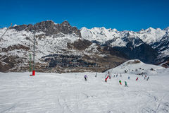 Formigal winter resort, Spain. Stock Images