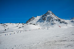 Formigal winter resort, Spain. Stock Photo