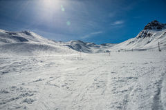 Formigal winter resort, Spain. Royalty Free Stock Images
