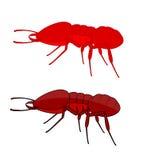 Formigas de fogo ilustração do vetor