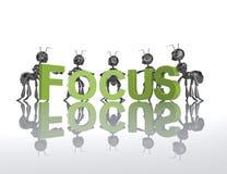 Formigas do foco 3d Foto de Stock Royalty Free