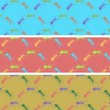 Formigas dos desenhos animados em uma cor para trás Fotografia de Stock Royalty Free