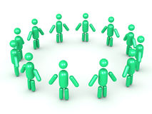 Forming a circle cartoon man group Royalty Free Stock Images