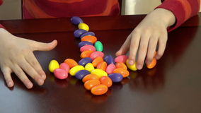 Forming a cross with Easter Eggs stock footage