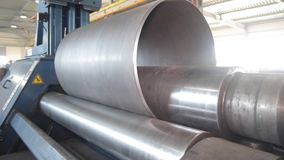 Forming metal products stock video footage