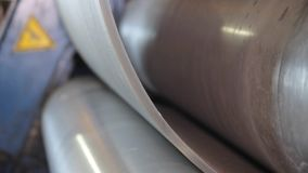 Forming metal products stock video