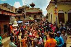 Gai Jatra & x28;Ghintang ghishi Twak& x29; royalty free stock photos