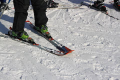 Forming wedge to control skiing Royalty Free Stock Images