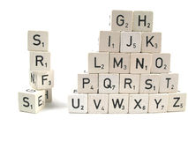 Forming words. From the alphabet royalty free stock photo