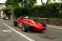 Formla 2 bil på Bergamo den historiska granda prixen 2015 Royaltyfri Fotografi