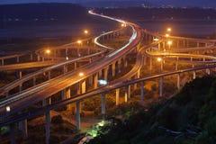 Formosa huvudväg på den Taichung staden i Taiwan royaltyfri foto