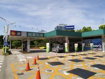 Formosa Plastics Group Gas station inside Taipei Songshan Airport. Taipei, Taiwan - JUNE 27, 2015: Formosa Plastics Group Gas station  inside Taipei Songshan Royalty Free Stock Images