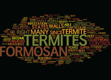 Formosan Termites Text Background  Word Cloud Concept Stock Image