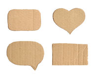 Forms of cardboard Royalty Free Stock Photography