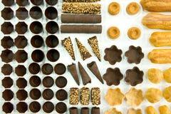 Forms of chocolade Stock Photos