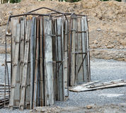 Forms for concrete foundation Royalty Free Stock Photography