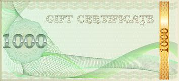 Forms for gift certificates. Stock Image