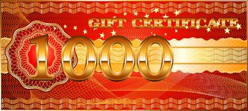 Forms for gift certificates. stock photography