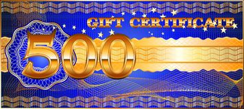 Forms for gift certificates. Stock Images