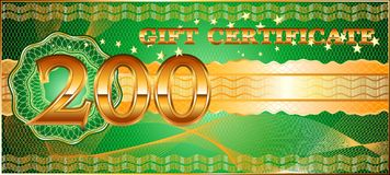 Forms for gift certificates. royalty free stock photos