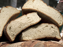Forms of homemade bread on one another Royalty Free Stock Photos