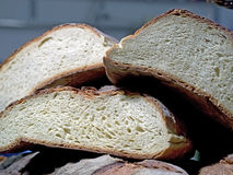 Forms of italian homemade bread on one another Royalty Free Stock Image