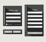 Forms login Royalty Free Stock Photos