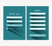Forms Login Stock Photography