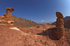 The forms of sandstone in Eilat, Israel Stock Photo