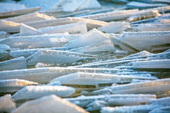 Forms of sea ice near the coast Royalty Free Stock Images
