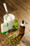 Forms of Stevia sweetener Stock Photos